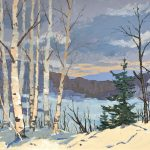 LATE AFTERNOON – FEBRUARY – OXTONGUE LAKE, ALGONQUIN PARK. 1969